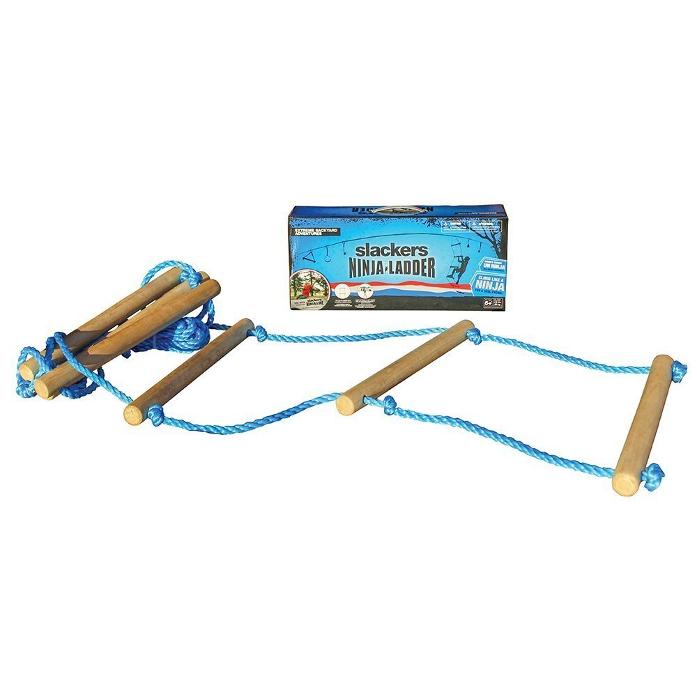 NinjaLine Rope Ladder, Blue, 8' (Super strong)