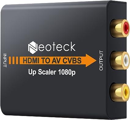 Neoteck HDMI a RCA Convertidor 1080P HDMI a AV 3RCA CVBS Compuesto ...