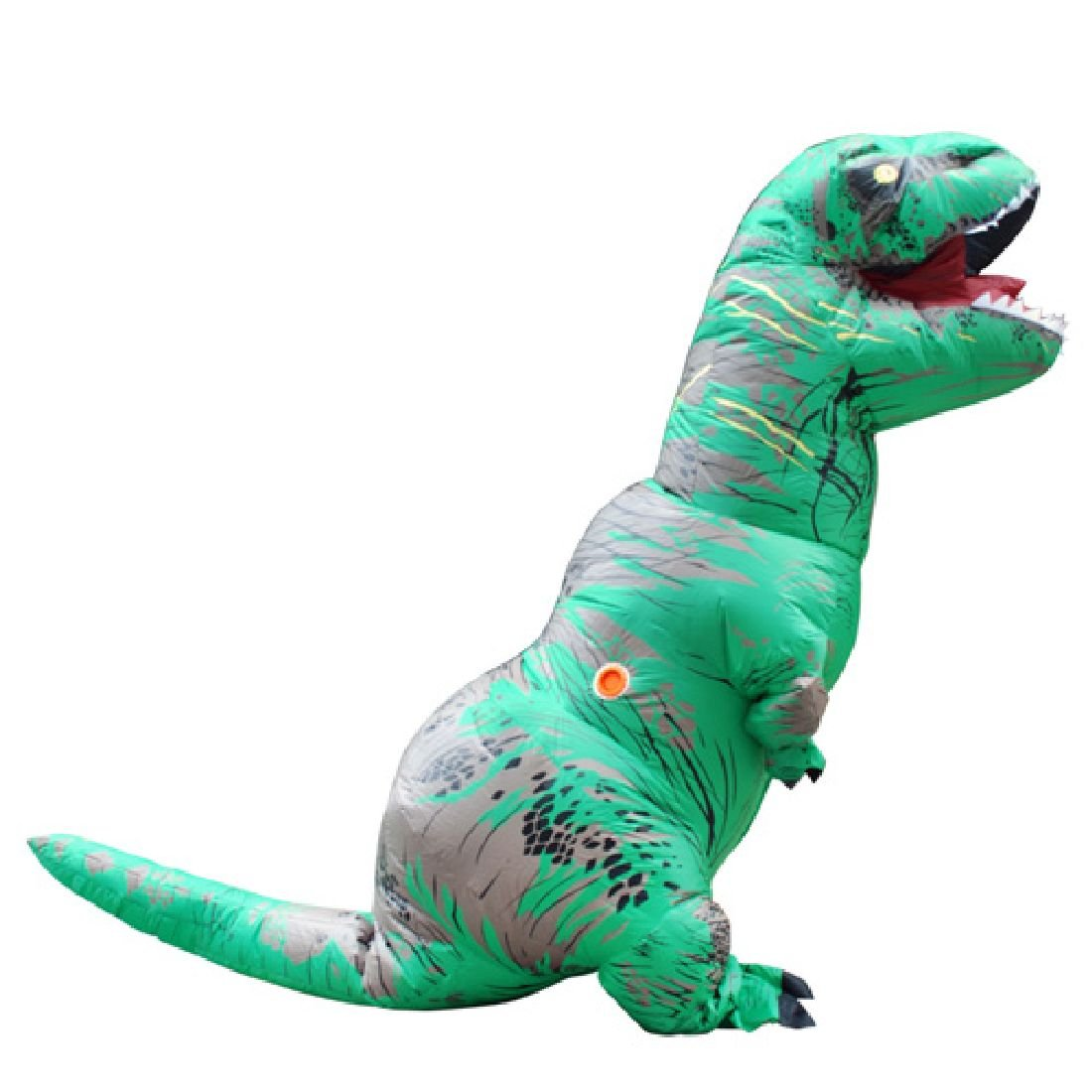 Adults Green Inflatable Dinosaur Costume Party Dress Adult by Crystalbella Inflatable Cos