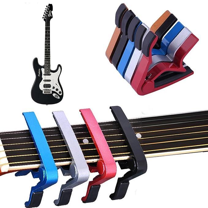 Abrazadera para guitarra eléctrica y acústica con forma de cejilla para guitarra: Amazon.es: Instrumentos musicales