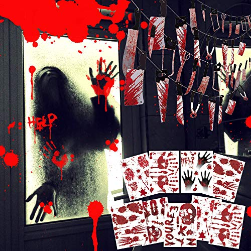 Gruesomely Scary REMOVABLE Halloween Stickers