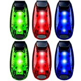 6-Pack LED Safety Light Strobe Lights for Daytime Running Walking Bicycle Bike Kids Child Woman Dog Pet Runner Best Flashing Warning Clip on Small Reflective Set Flash Walk Night High Visibility