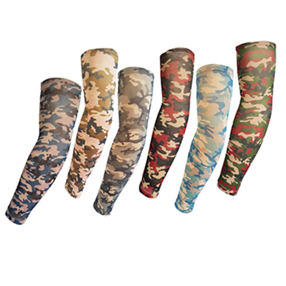 Efivs Arts Camouflage Style Temporary Tattoo Sleeves Fake Tattoo Temporary Tattoo Arm Stockings 6 Pair