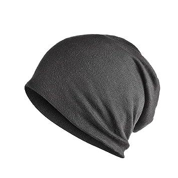 NZDHER Sombrero Hombre Unisex para Hombres para Mujeres Gorras De Cobertura  Gorras De Punto Tejer Doble Capa De Algodón Gorras De Tela Buen Sombrero 6833fce43cd