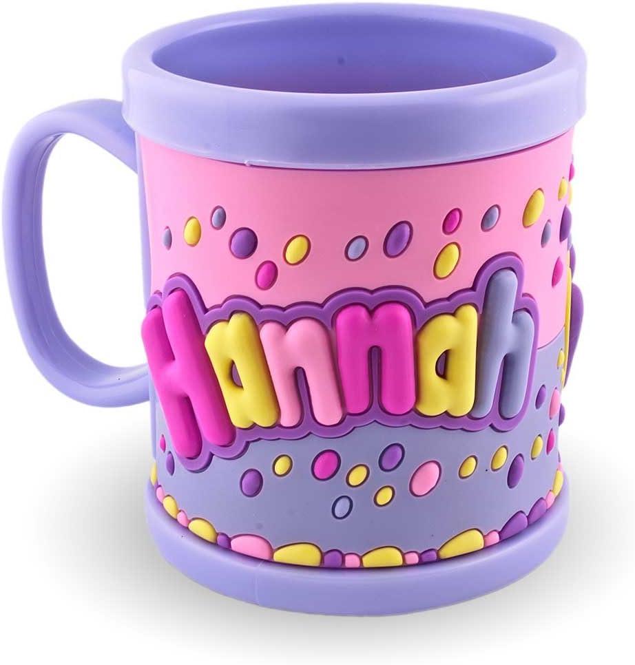 My Name Mug 3D Hannah Blue Jar for Children Plastic Drinking