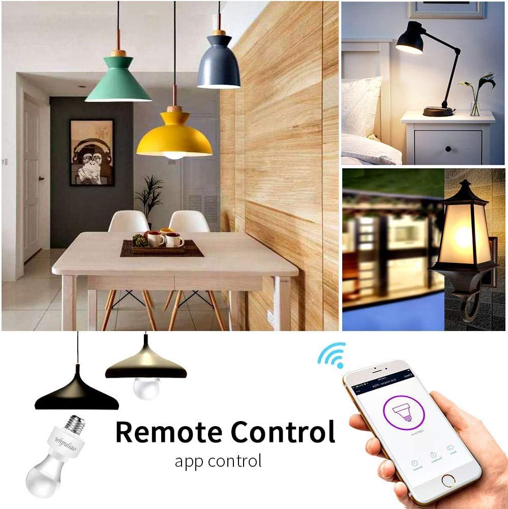 E27 Lumi/ère Socket t/él/écommande lampe LED ampoule Adaptateur sans fil Support prise Compatible avec Alexa Google Home Assistant and IFTTT Smart WIFI Douille dampoule