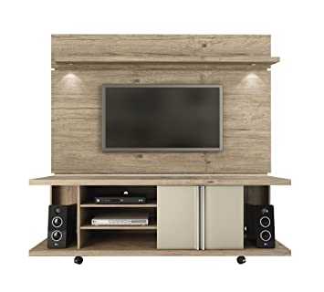 manhattan comfort carnegie tv stand u0026 park 18 floating wall tv panel naturenude
