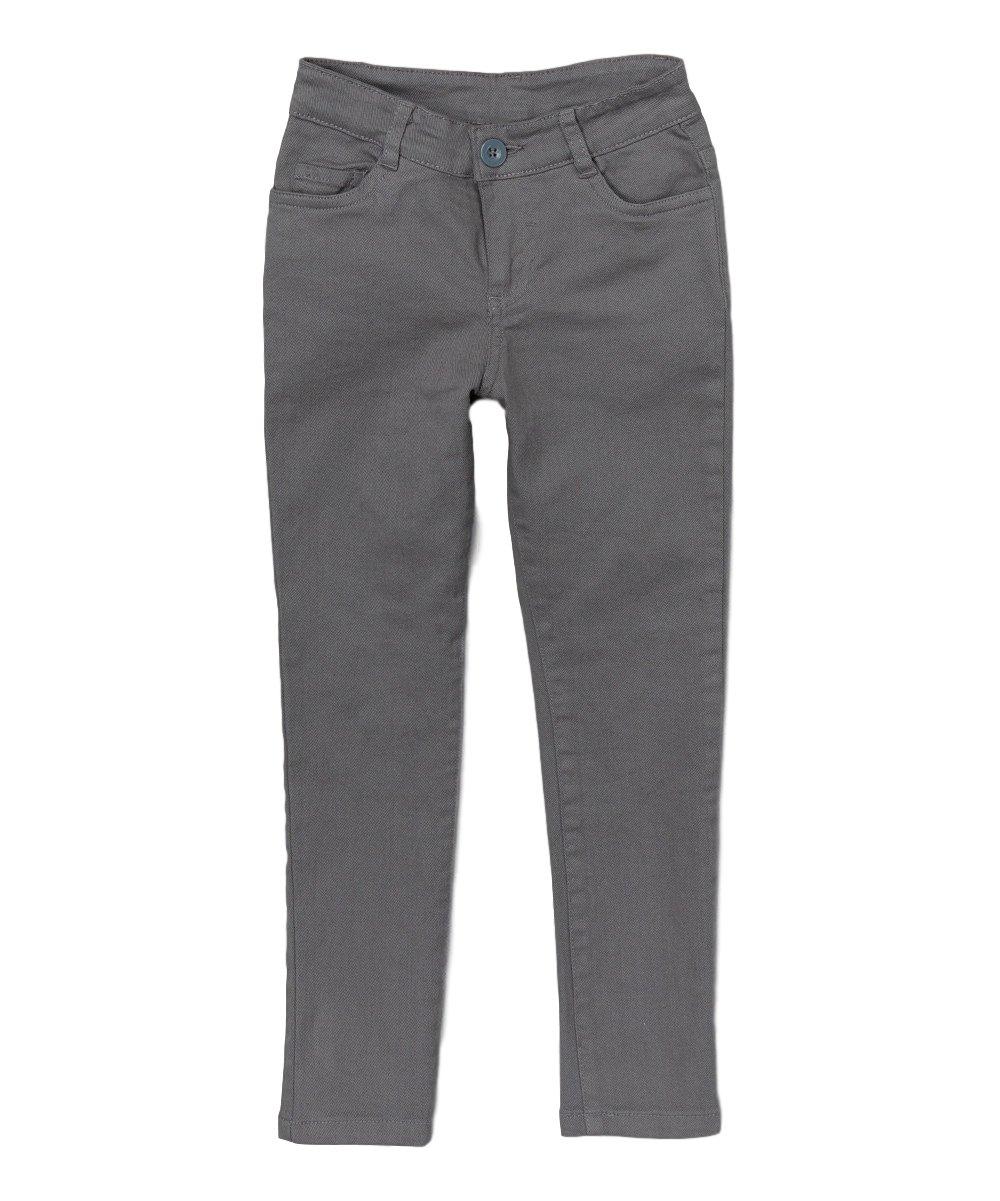 unik Girl's Uniform Skinny Pants, Grey Size 14