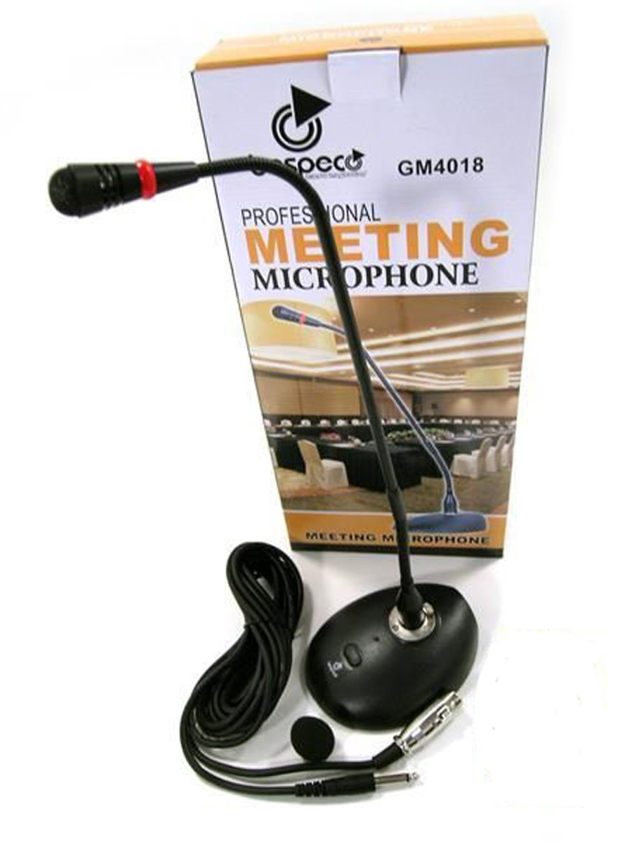 Microfono Bespeco Professionale da Tavolo GM4018 Conferenza Flessibile gooseneck