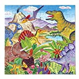 eeBoo Dinosaur Island Puzzle for Kids, 64 Pieces