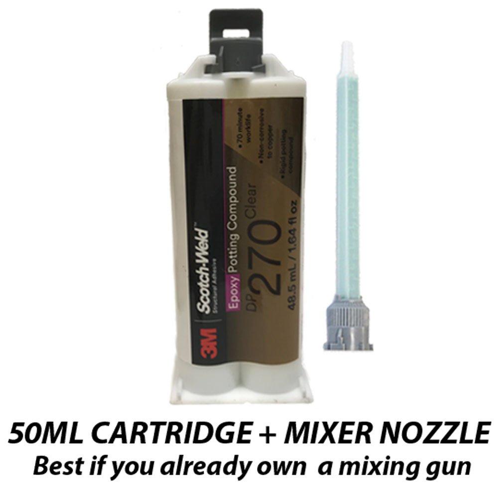 3M Scotch-Weld Epoxy Potting Compound DP270 Clear, 1.69 fl oz (Pack of 1)