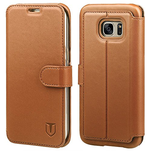 UPC 718460795427, Galaxy S7 Edge Case, TANNC Flip Leather Wallet Phone Case [Layered Dandy] - [Card Slot][Flip][Wallet] - Case for SAMSUNG Galaxy S7 Edge Devices -Brown