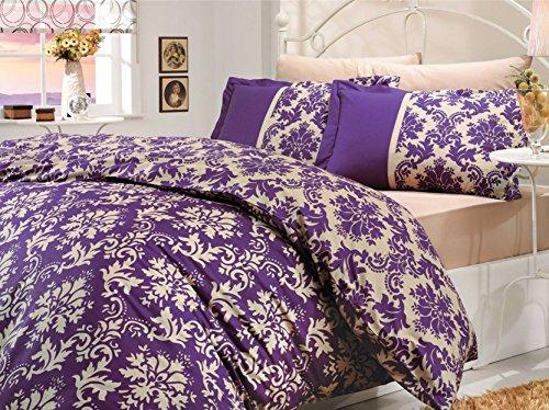 Queen Cotton Bedding Sets Luxury Bohemian Damask Vintage
