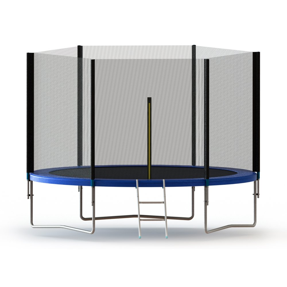 ALEKO TRP10 Trampoline Bouncer with Mesh Safety Net Enclosure Spring Pad and Ladder 10 Feet Black and Blue by ALEKO