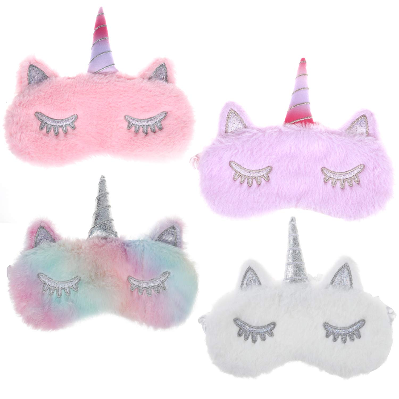 Cute Kids Boys Girls Plush Eye Masks Eye Shade Blindfold for Sleep or Travel