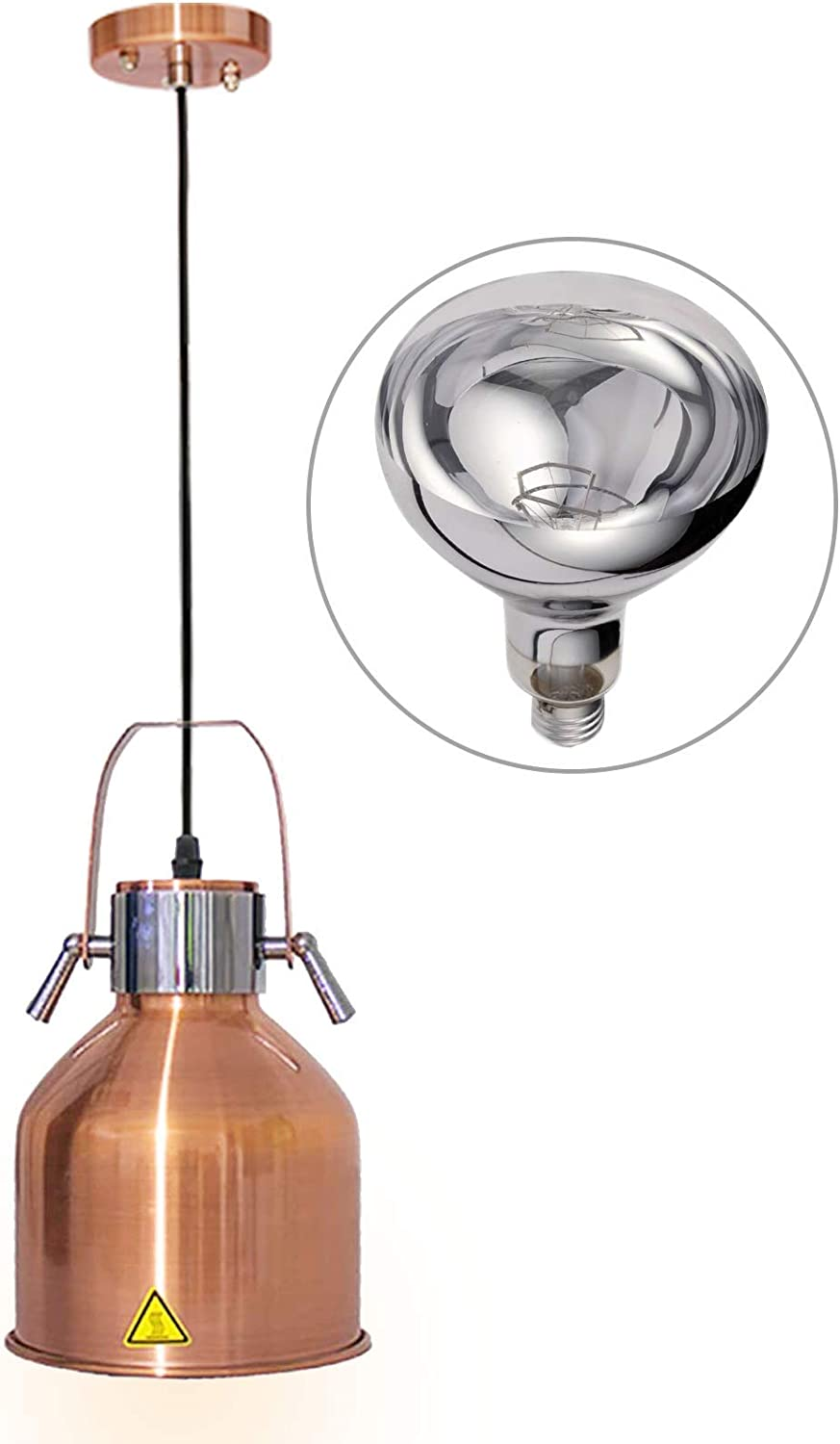 JIAWANSHUN 175mm Food Heat Lamp Food Warmer Lamp Food Heating Pendant Lamp Food Insulation Lamp 110V