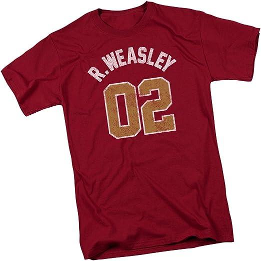Warner Bros. R.Weasley Quidditch - Camiseta para jóvenes de Harry Potter