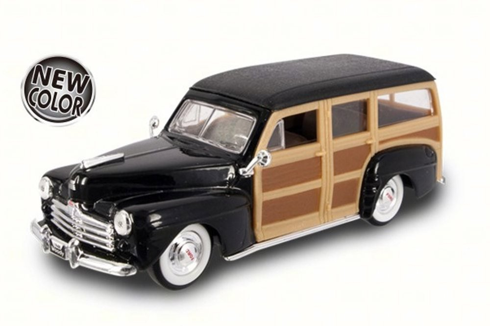 Road Signature 1948 Ford Woody Black 94251 1 43 Scale Diecast Model Toy Car