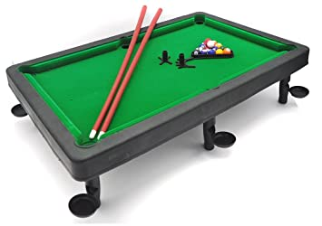Amazon.com: Little Tresures Tabletop Pool Set – 8 ball game ...
