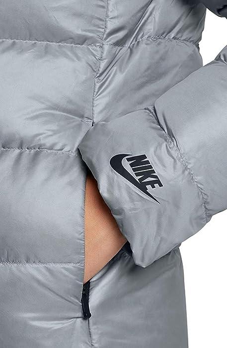 ... Nike Women s Sportswear Puffer Down Jacket Black Cool Grey 854767 065  ... 74eea37d5