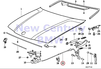 Amazon Com Bmw Genuine Engine Hood Mounting Parts Engine Hood Mechanism 318i 323i 325i 328i M3 3 2 Automotive