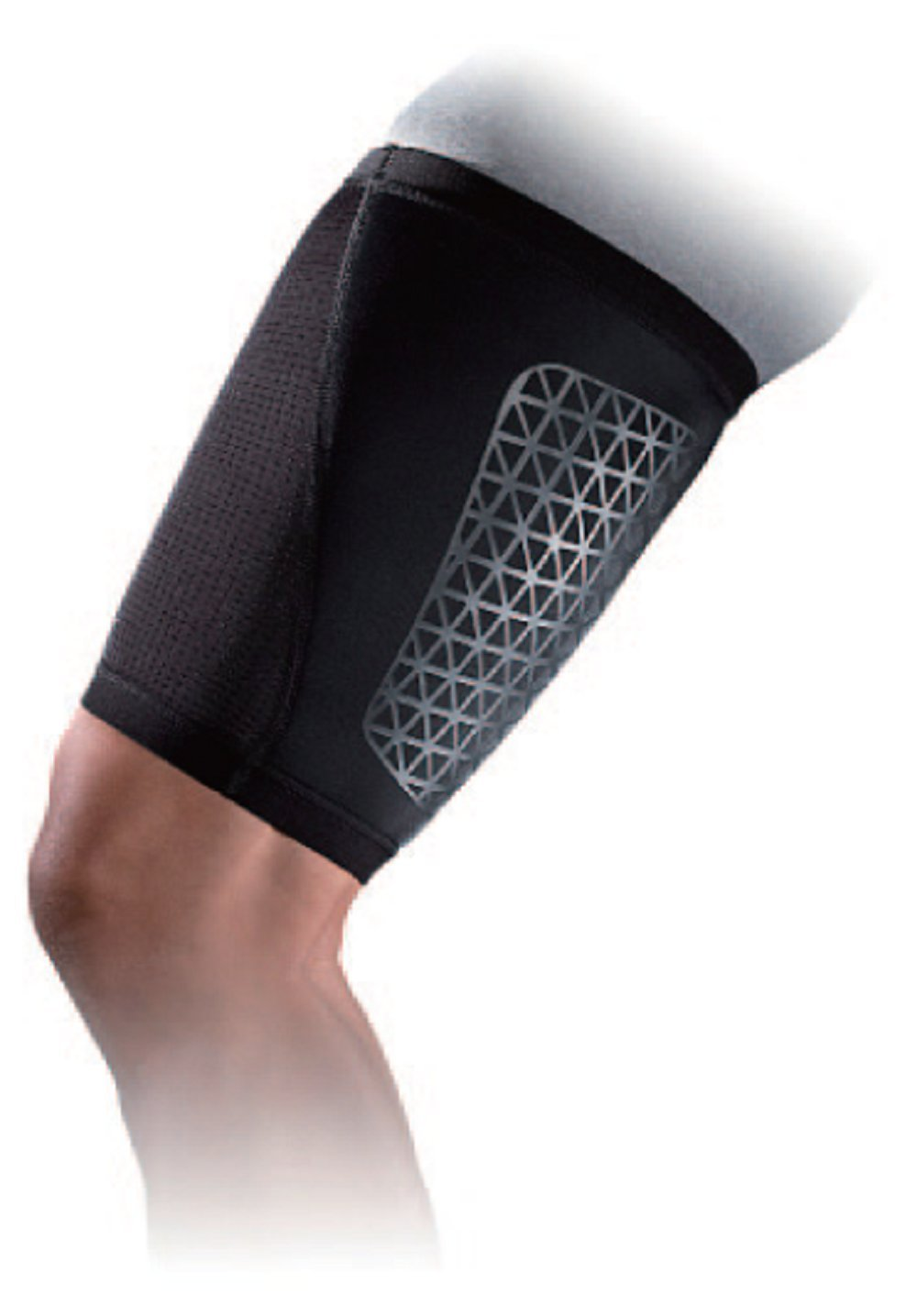 NIKE Pro Combat Hyperstrong Thigh Sleeve (Large, Black)