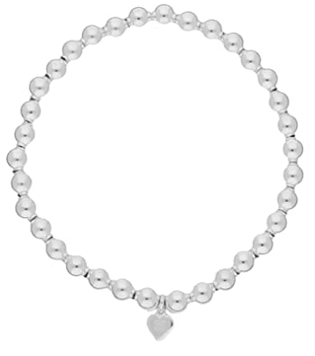 Adara Silver 6mm Bead Necklace of 17 Inches 01smZrMvc
