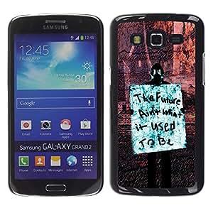 Paccase / SLIM PC / Aliminium Casa Carcasa Funda Case Cover para - Future Freedom Occupy Revolution Rights Sign - Samsung Galaxy Grand 2 SM-G7102 SM-G7105
