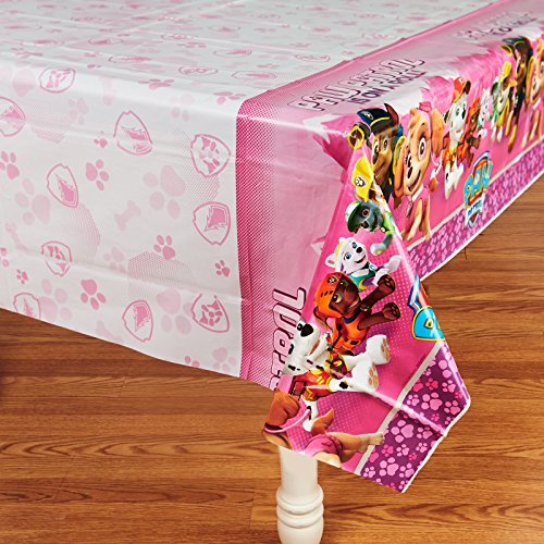 American Greetings PAW Patrol Pink Plastic Table Cover, 54""
