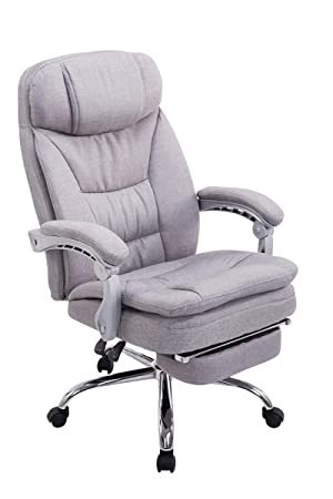 Swivel Desk Chair, Manager Boss Office Chair, High Back Executive Fabric  Chair Recliner,