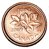 Canada 2009 L 1 Cent Zinc One Canadian Penny Coin Logo M Non Magnetic