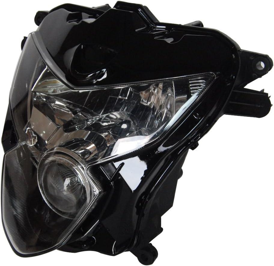 Mallofusa Motorcycle Headlight Head Lamp Assembly for Suzuki 2004-2005 GSX-R 600//750 K4