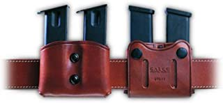 product image for Galco DMC Double Mag Carrier for .45, 10mm Single Column Metal Magazines (Havana, Ambi)