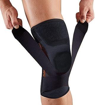 Rodillera apoyo estabilizador de rótula con correa ajustable y antideslizante compresión rodillera para aliviar el dolor.: Amazon.es: Deportes y aire libre