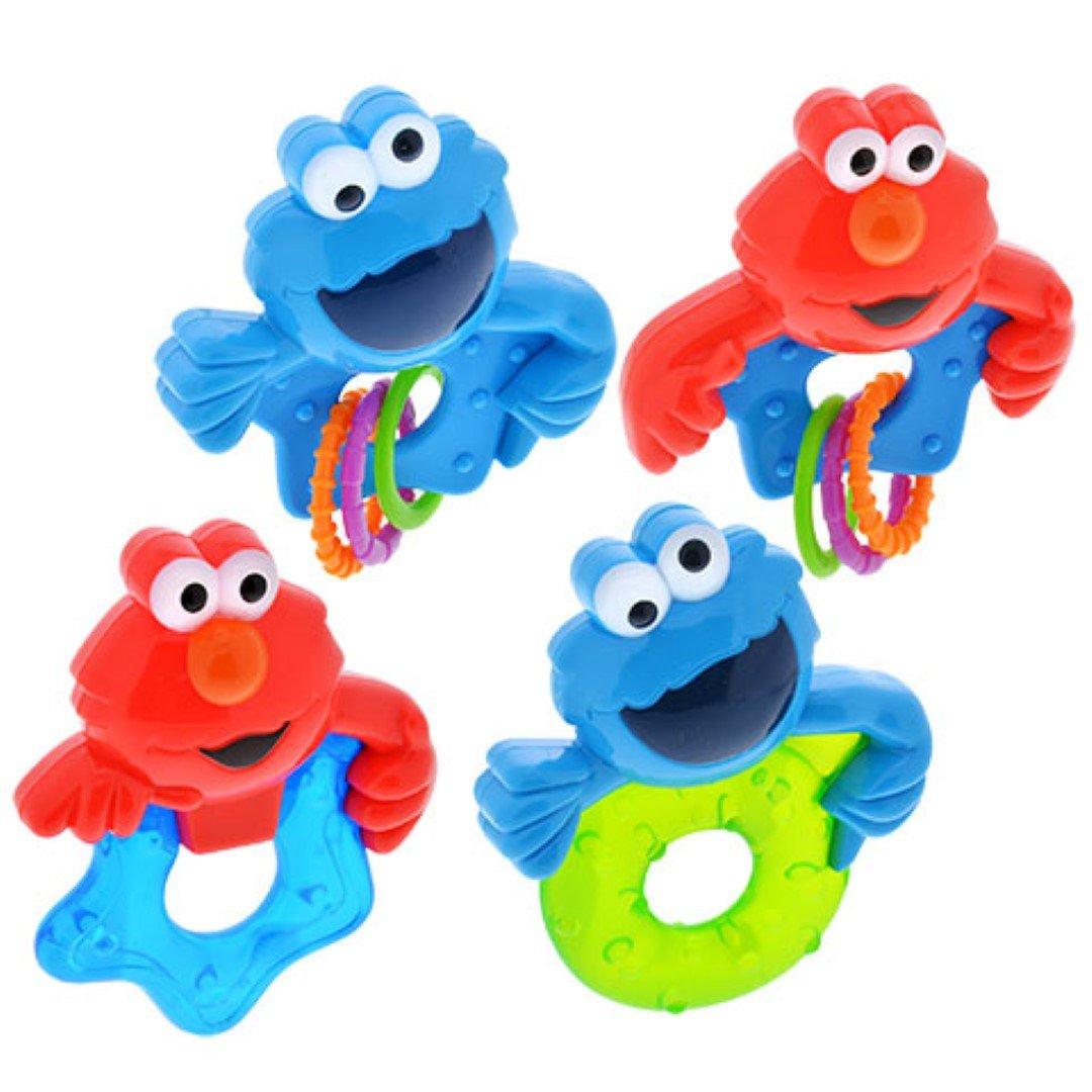 Amazon.com : Sesame Street Sesame Beginnings Rattles and Teethers [1 ...