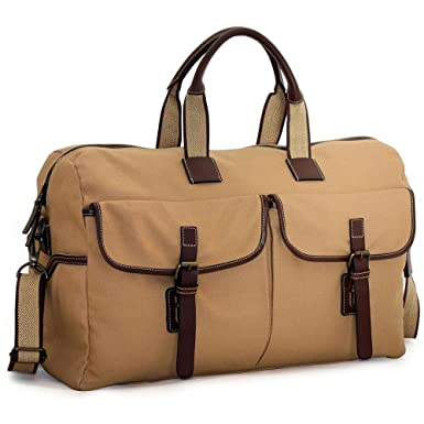Jack Georges Canvas Large Duffle Bag Khaki 665a4476299