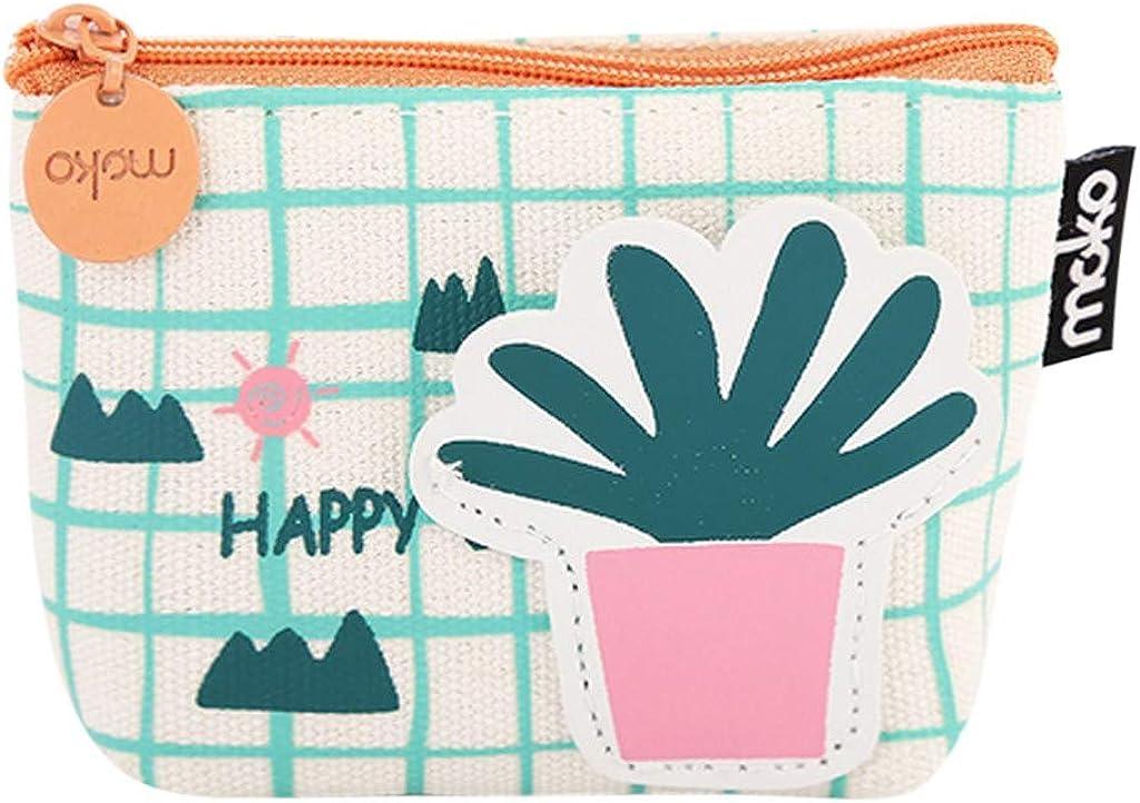 XUANOU Mini Zipper Wallet Girls Flower Printed Snacks Coin Purse Wallet Bag Change Pouch Key Holder Elegant Chain Bag