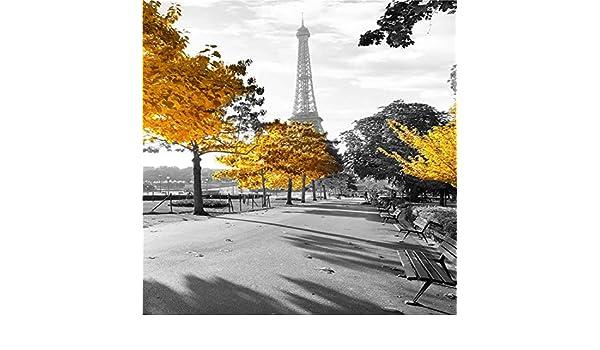 LiMengQi2 Moderno, Paisaje de la Ciudad de Lona de Pintura de Paisaje de la Torre Eiffel en el Poster de París Pared Foto para Vivir casa habitación decoración Regalo(No Frame): Amazon.es: Hogar