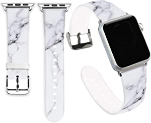 Marble Bands for Apple Watch 38mm,Jolook Soft Leather Sport Style Replacement iWatch Band Strap for Apple Watch 38mm 40mm Series 6/5/4/3/2/1 - Marble Pattern