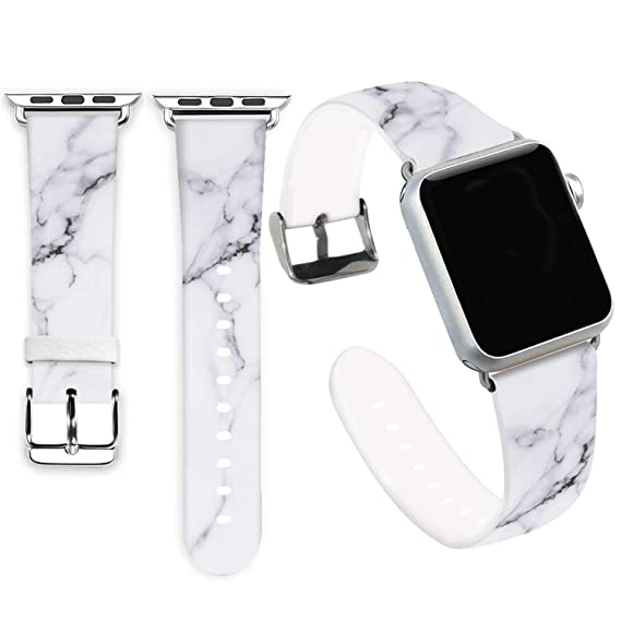 48d1e03aa Marble Bands for Apple Watch 38mm,Jolook Soft Leather Sport Style  Replacement iWatch Band Strap