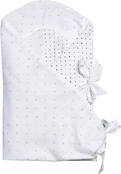 Motherhood - Manta para envolver al bebé (algodón orgánico, con certificado GOTS), diseño de manchas azules y negras: Amazon.es: Bebé