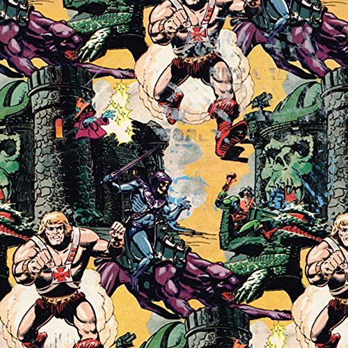 (He-Man Vintage 1984 Gift Wrap (2 sheets, 8.3 sq. ft))