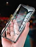 Galaxy S10 ケース docomo SC-03L 対応 マグネット式 360°全面保護 ギャラクシーS10 クリアケース 液晶画面フィルム付き Samsung S10 アルミバンパー 両面9H強化ガラス 擦傷防止 au SCV41 ガラスカバー (Galaxy S10,ブラック)