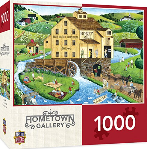 MasterPieces Hometown Gallery Honey Mill - Picnic 1000 Piece Jigsaw Puzzle by Art Poulin
