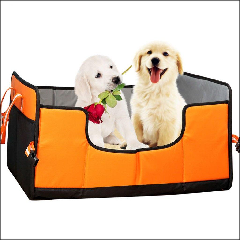 orange M.60x45x32cm orange M.60x45x32cm QRFDIAN Autumn and winter cat litter kennel folding pet nest pet supplies new mat autumn and winter dog mattress size 2 optional large size 60X45X32CM   small 45X36X32CM