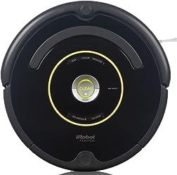 iRobot Roomba 650 Robot Aspirador, Alto Rendimiento de Limpieza, Programable, Atrapa el Pelo de Mascotas, Negro