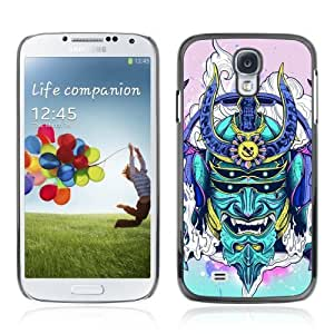 Designer Depo Hard Protection Case for Samsung Galaxy S4 / Neon Japanese Samurai Monster