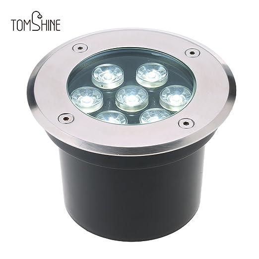 Fabulous Tomshine Bodeneinbaustrahler Aussen 7W Edelstahl LED Bodenleuchten OB76