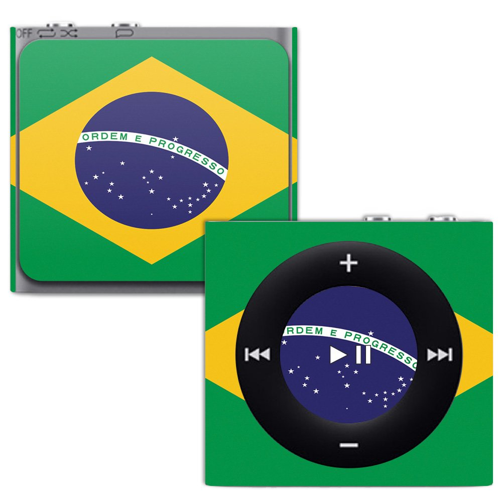 MightySkins Skin for Apple iPod Shuffle 4G - Brazilian Flag | Protective,  Durable, and Unique Vinyl Decal wrap Cover | Easy to Apply, Remove, and