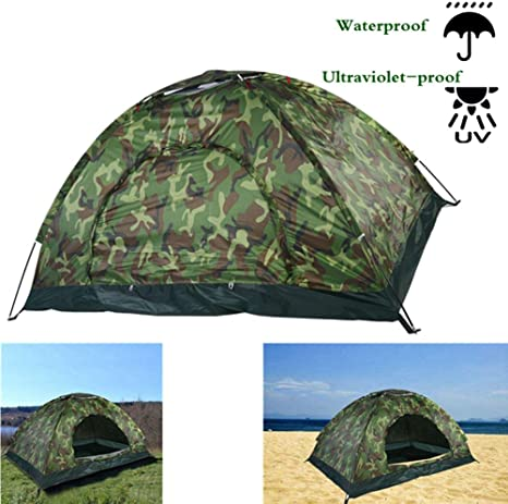 Acogedor Pop up Beach Tent, with A Closable Door For 2 3 Man, Outdoor Camouflage UV Protection Tent Automatic Sun Tents Anti UV For Outdoor Garden